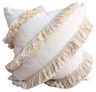 Tassel Linen-Blend Pillow - One Kings Lane