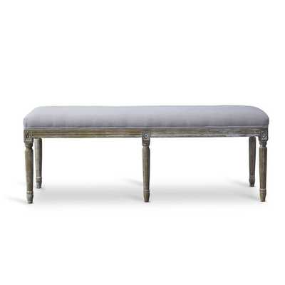 Clairette Wood Traditional French Bench - Overstock