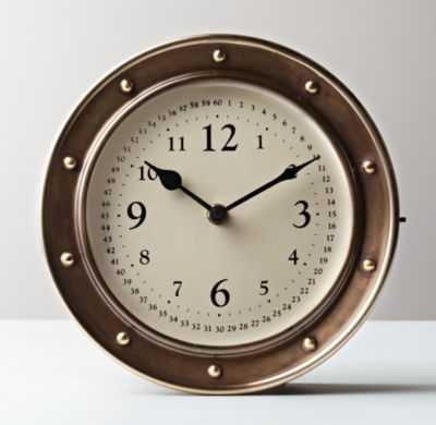 nautical brass clock - RH Baby & Child