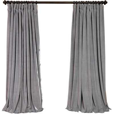 "Signature Double Wide Velvet Rod Pocket Single Curtain Panel - 108""L x 100""W - Wayfair"