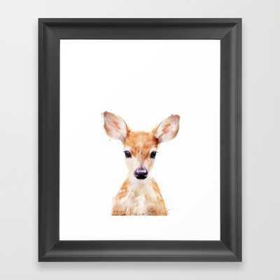 """Little Deer- 12"""" X 12""""- Framed - Society6"""