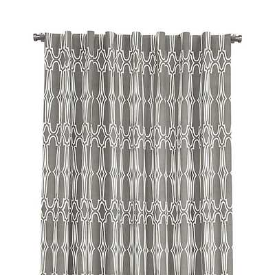 """Wrought Iron 48""""x108"""" Curtain Panel - Crate and Barrel"""