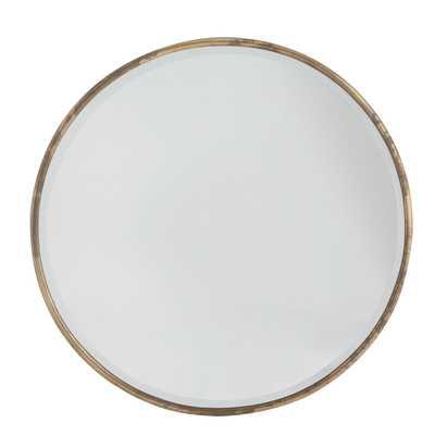 Gilt Minimalist Mirror - Wisteria