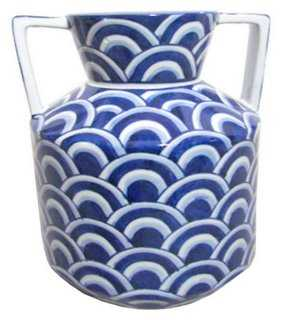 Scale Vase, Blue/White - One Kings Lane
