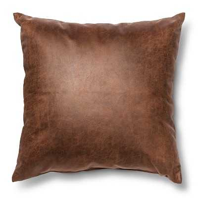 "Thresholdâ""¢ Square Faux Leather Throw Pillow - Target"