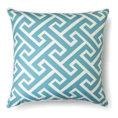 Oversized Greek Key Throw Pillow - Blue - 24Sq. - Polyester fill - Target