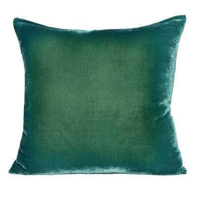 """Ombre Velvet Throw Pillow- Emerald-14""""x20""""-Insert - Wayfair"""