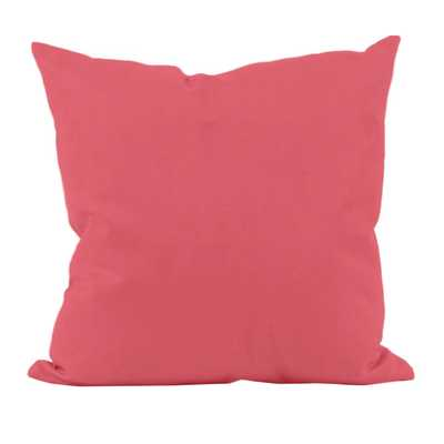 "Solid Throw Pillow - coral - 18""- Polyester/Polyfill insert - Wayfair"