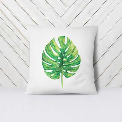 """Banana Leaf Pillow Cover in green-18"""" without insert - Etsy"""
