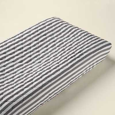 Grey Stripe Changing Pad Cover - Land of Nod