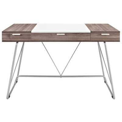 Panel Office Desk in Birch - Domino