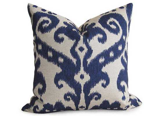 "Decorative Designer Ikat Pillow Cover - Navy Blue - 16""x16"" - Insert Sold Separately - Etsy"