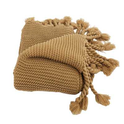 Europa Sweater-knit Fringe Throw - Overstock