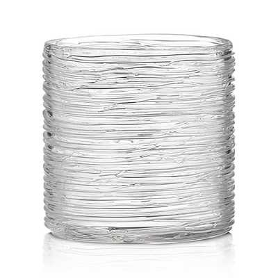 Spin Small Glass Hurricane Candle Holder/Vase - Crate and Barrel