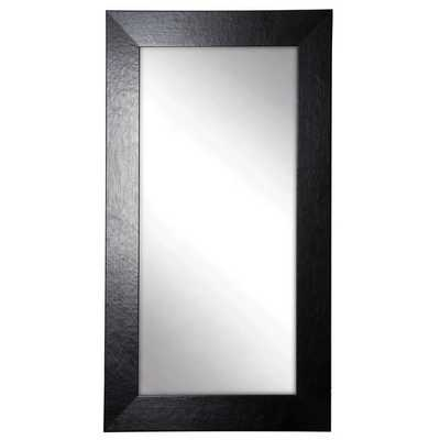 American Made Rayne Black Wide Leather Tall Mirror - Overstock
