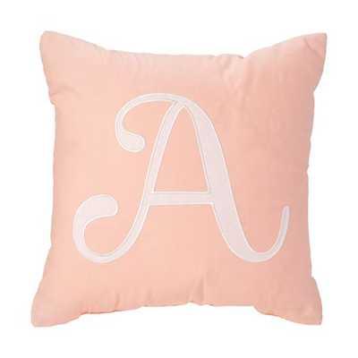 'A' Typeset Throw Pillow - Polyester fill - Land of Nod
