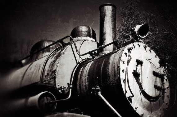 "Black and White Photo, Locomotive Train Art Print - 16"" x 20"" - Unframed - Etsy"