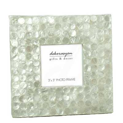 Capiz Picture Frame with Dots - Natural White - AllModern
