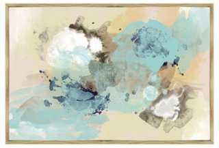 Blue Sky Abstract Inverse-Framed Giclée - 46x31 - Framed - One Kings Lane