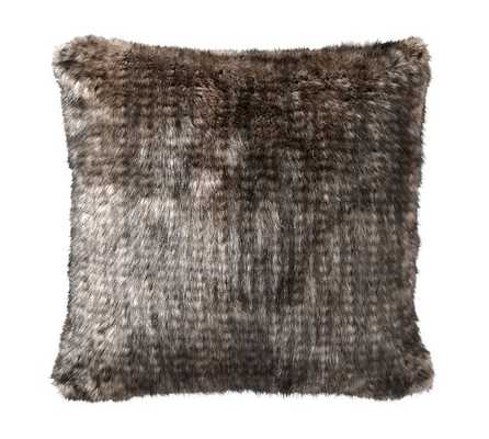 """Faux Fur Pillow Cover- 18""""sq-RABBIT-Insert sold separately. - Pottery Barn"""