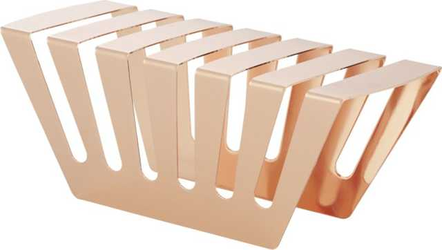 Balance rose gold letter holder - CB2