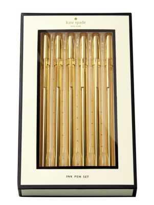 Kate Spade Strike Gold Pen Set - High Fashion Home