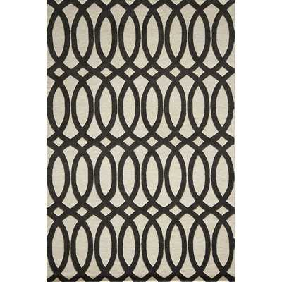 Delhi Black Tufted Rug - 8x10 - Wayfair