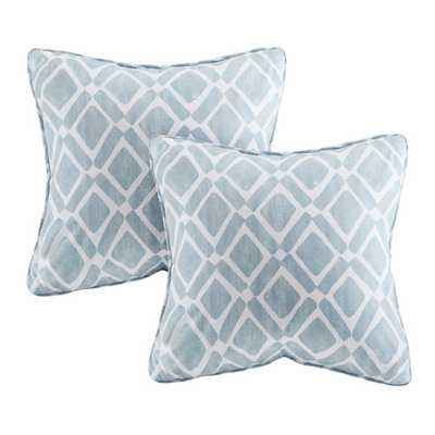 Delray Diamond Printed Throw Pillow - AllModern