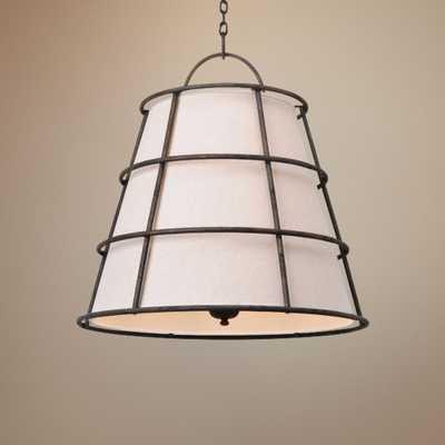 "Habitat Collection 30"" Wide Hardback Linen Pendant - Lamps Plus"