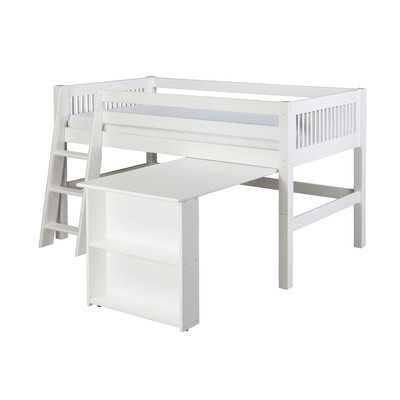 Twin Low Loft Bed with Retractable Desk - Wayfair