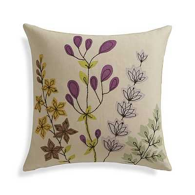 """Gabby 16"""" Pillow - Yellow - Insert included - Crate and Barrel"""