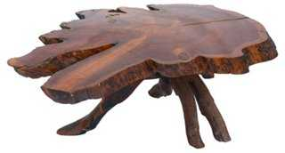 Redwood Live-Edge Coffee Table - One Kings Lane