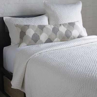 Lexington Quilt - Full/Queen, Pearl - West Elm
