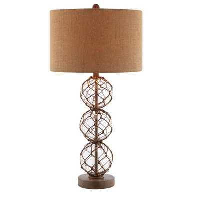 Breeze Nautical Rope Base and Burlap Table Lamp - Overstock