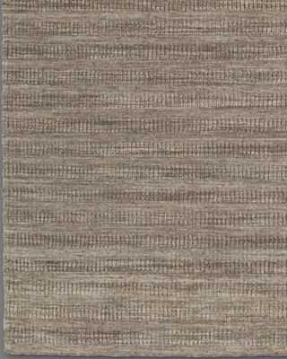 TEXTURED STRIPED WOOL RUG - MARLED - RH