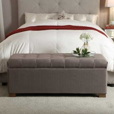 HomePop Large Tufted Storage Bench - Overstock