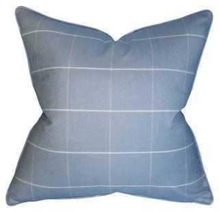 Seville Wool Pillow, Blue - One Kings Lane