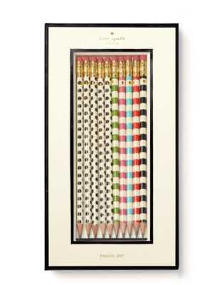 Kate Spade Dot The I's Pencil Set - High Fashion Home