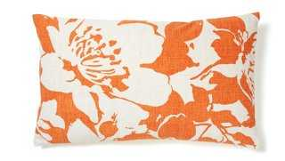Peony Cotton Pillow - One Kings Lane