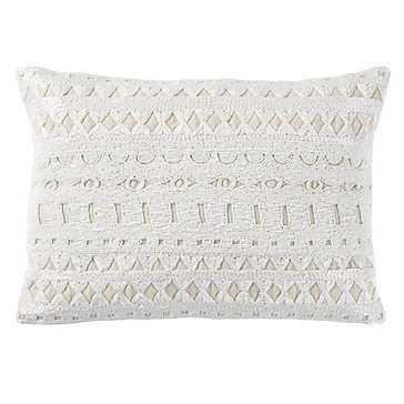 Nouveau Pillow - 14'' x 20''H - IVORY - DOWN INSERT - Z Gallerie