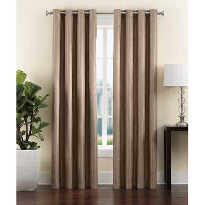 Ryan Grommet Single Curtain Panel/ Mink - AllModern