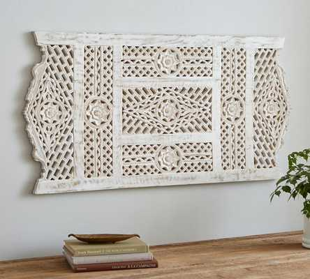ADELAIDE CARVED WOOD PANEL - 23.75x48 - Pottery Barn