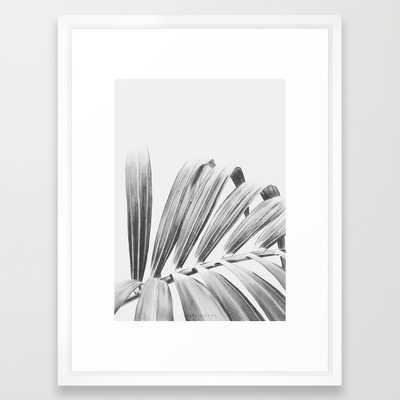 "PALM- FRAMED ART PRINT/ VECTOR WHITE MEDIUM (GALLERY) (20"" X 26"") - Society6"