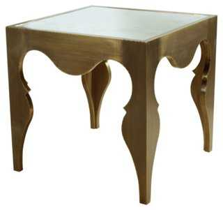 Van Cleef Side Table, Antiqued Brass - One Kings Lane