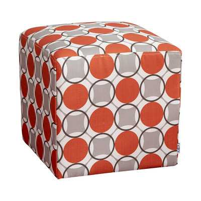 Geometric Cube Ottoman - Granite - Wayfair
