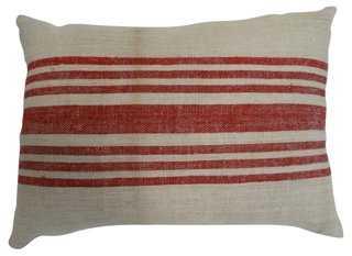 French Flax Grain-Sack Pillow - One Kings Lane