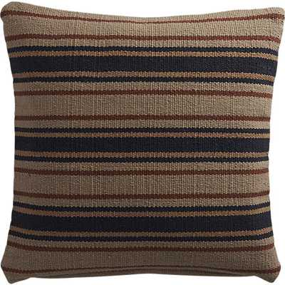 "The Hill-Side workwear blanket stripe dhurrie 18"" pillow - CB2"
