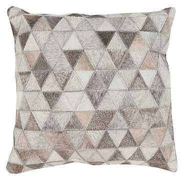 """Trento Hair on Hide Pillow 18"""" x 18"""" with insert - Z Gallerie"""