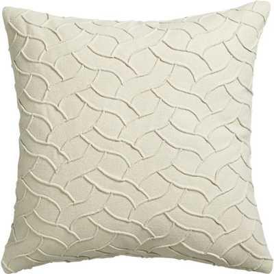 Woolsey pillow - 18x18, Feather Insert - CB2