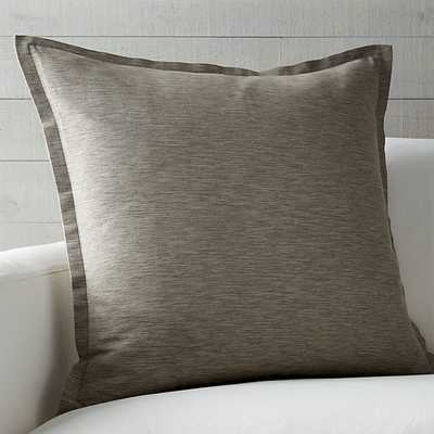 Linden Pillow - Mushroom  - 23x23 - Feather Insert - Crate and Barrel
